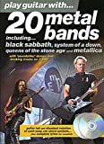 Play Guitar With... 20 Metal Bands. Partitions, CD pour Tablature Guitare(Symboles d'Accords)