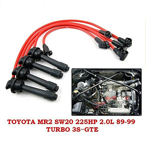 8mm Ignition Lead Spark Plug Wire Set Toyota MR2 Sw20 225Hp 2.0L Turbo 3S-GTE 1991-95 (Mr2 Turbo Spark Plug Wires compare prices)