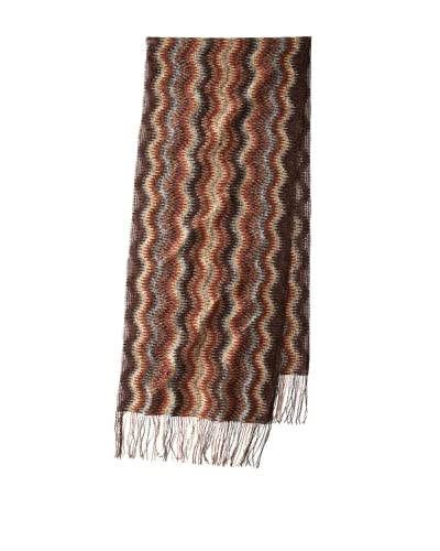 Missoni Women's Chenille Zigzag Scarf, Brown As You See