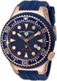 Swiss Legend Men's 21818D-RG-03 Neptune Collection Rose Gold Ion-Plated Watch with Blue Rubber Band