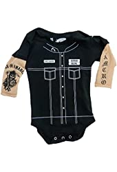 Sons of Anarchy Unisex-baby Tattoo Sleeve Romper