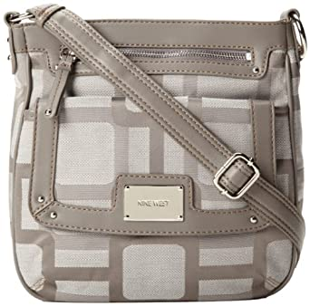 Nine West Vegas Signs Cross Body Bag,Ash Charcoal,One Size