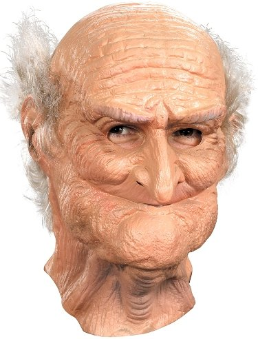 Male Oldie Old Man Mask Adult Halloween Costume Accessory