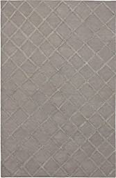 Ecarpetgallery Hand-woven Diamond Chic Diamond 9\' x 12\' Gray 70% Wool & 30% Art Silk area rug