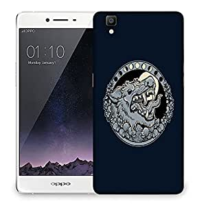 Snoogg Grey Wolf Roaring Designer Protective Back Case Cover For OPPO R7S