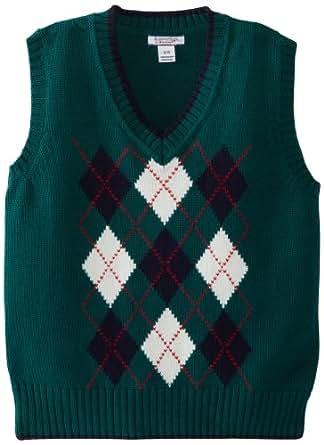 Kitestrings Big Boys' Argyle V-Neck Sweater Vest, Blue Spruce, 8/10
