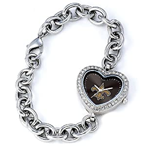 NFL Ladies FH-NO Heart Collection New Orleans Saints Watch by Game Time