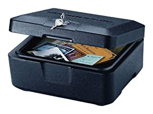 SentrySafe 500 FIRE-SAFE Box, 0.15 Cubic Feet, Black
