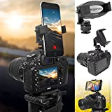 ChargerCity 360° Adjustable Camera Hot Shoe Phone Mount for Apple iPhone XR XS X 8 7 Plus Samsung Galaxy S9 S8 Note LG Huawei & All Smartphone up to 3.6