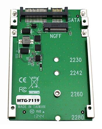 "MTG-7119 M.2 NGFF SATA SSD→2.5""SATA変換アダプター 台湾製造"
