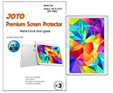 JOTO - Samsung Galaxy Tab S (10.5 inch) Screen Protector Film, Anti Glare, Anti Fingerprint (Matte Finish) Scratch Resistant, exclusive for 2014 Galaxy Tab S 10.5 (SM-T800), with Lifetime Replacement Warranty (3 Pack)