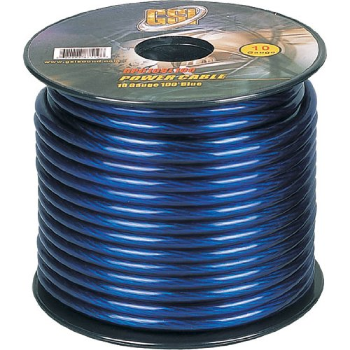 Gsi Gpc10Bl100 - 10 Gauge Power Ground Cables