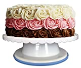 Cake Turntable | Cake Decorating Supplies - Voted #1 Best Rotating / Revolving Cake Stand + Zero Risk 100% Satisfaction Guarantee