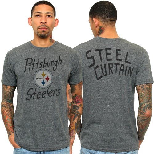 Pittsburgh Steelers mens triblend t shirt, Steel ,Medium
