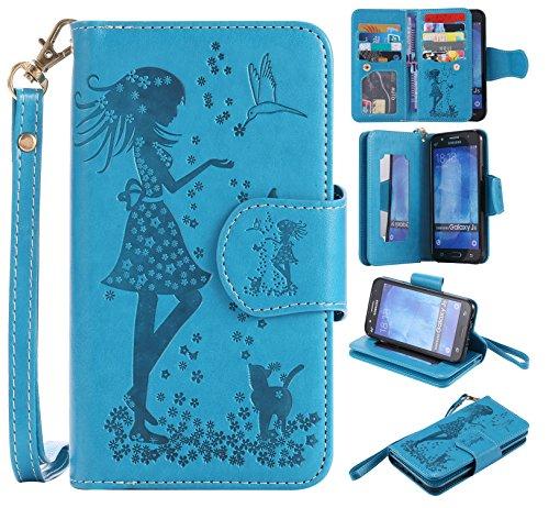 leather-case-cover-custodia-per-samsung-galaxy-j5-ecoway-caso-copertura-telefono-3d-donna-e-gatto-di