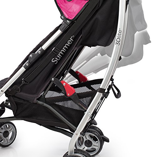 Summer Infant 2015 3D Lite Convenience Stroller, Hibiscus Pink