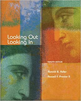 Amazon.com: Looking Out, Looking In (9780495095804): Ronald B. Adler, Russell F. Proctor II: Books