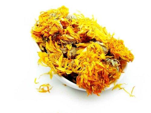 Calendula Flower Tea - Premium Whole Loose Flower - By Nature Tea (8 Oz)