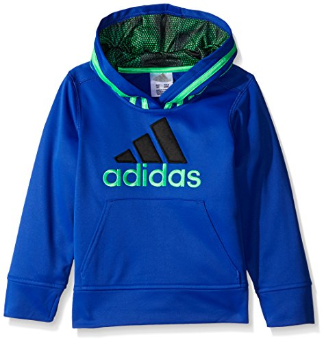 adidas Toddler Boys' Athletic Pullover Hoodie, Bold Blue, 2T