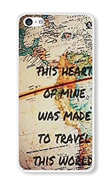 buy Iphone 5C Case This Heart Of Mine Was Made To Travel This World Phone Case Custom Transparent Pc Hard Case For Apple Iphone 5C