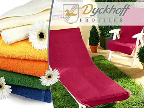Schonbezug-fr-Gartenstuhl-Gartenliege-aus-dem-Hause-Dyckhoff-erhltlich-in-6-sommerlichen-Farben-mit-Kapuze-fr-besseren-Halt-Gartenliege-70-x-200-cm-orange
