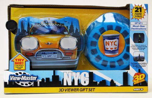 Basic Fun NY ViewMaster Taxi Gift Set: Popular Destinations - 1