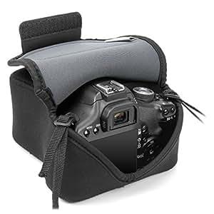Housse Etui Appareil Photo Réflex Numérique - Canon EOS 70D , 100D , 700D , 1200D / Nikon D3200 et plus - en Néoprène résistant - Flexsleeve par USA Gear