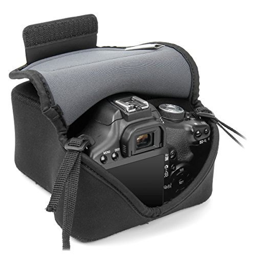 USA GEAR DuraNeoprene DSLR FlexARMOR Sleeve Case - Works With Nikon D750 , Canon EOS 5D Mark III , Pentax K-3, Sony Alpha A7 and Many Other DSLR Cameras