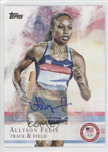 Autographed Allyson Felix Trading Card