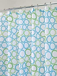 mDesign Rings Fabric Shower Curtain - 72