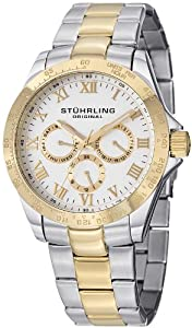 """Stuhrling Original Men's 774G.01 Symphony Regent """"Regal"""" 23k Yellow Gold Plating and Stainless Steel Two-Tone Watch"""