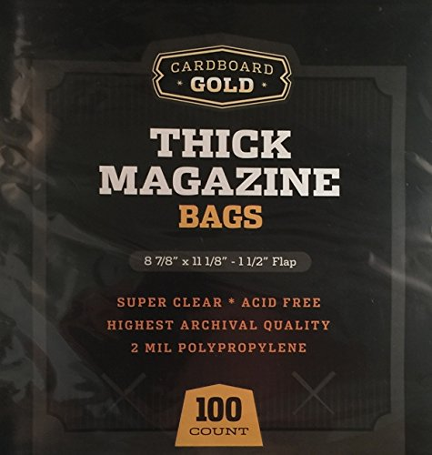 100 CBG THICK Magazine Bags - Archival Quality Protection for Your Magazines
