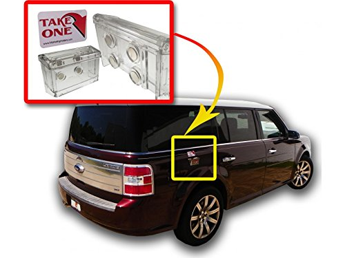 Source One Clear Lid Magnetic Outdoor Vehicle Business Card Holder Free Exterior (Take One ) Sticker Included As Pictured (S1-OBC-MAG) (Lids Magnets compare prices)