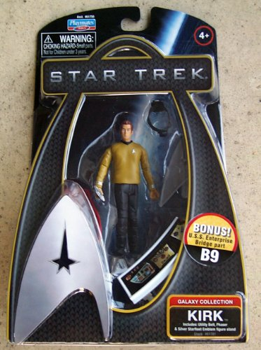 Buy Low Price Playmates Set of 5 Star Trek Movie Warp Action Figures with Bonus Bridge Accessories (B0035X45IC)