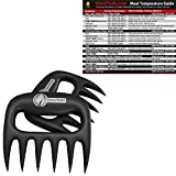 BBQ Claws + Meat Temperature Magnet - BEST INTERNAL TEMP GUIDE - Indoor Chart Includes Min Max of All Food For Kitchen Cooking - Use Digital Thermometer Probe To Check Temperatures of Chicken Steak Turkey & Meats on Grill by Cave Tools