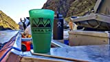 TERRA LAB Beer Pint Glasses Drinkware Unbreakable Silicone Pint Glass 16 Ounce (Green, 2)
