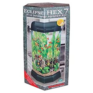 Marineland Eclipse Seamless Integrated Aquarium System, 5 Gallons, Hex