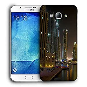 Snoogg Evening View Of Buildings Printed Protective Phone Back Case Cover For Samsung Galaxy A8