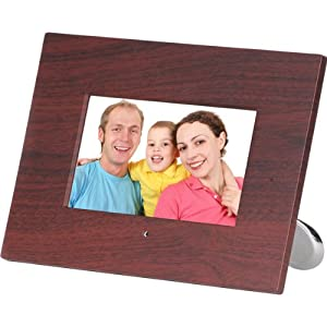 Axion AXN-9702BR 7-Inch Widescreen LCD Digital Picture Frame with Clock, Calendar and MP3 Player