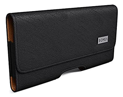 Samsung Galaxy S7 Edge Holster, Bomea Premium Galaxy S7 Edge Leather Pouch Belt Clip Case Loops Holster Cover Carrying Holder for Samsung S7 Edge Phone (Fits with Otterbox Spigen Lifeproof Case On) from BOMEA