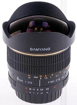 Samyang SAM8OLYMPUS Objectif 8 mm F3,5 Fisheye pour Olympus 4/3 Noir