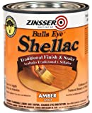 Rust-Oleum Zinsser 704H 1-Quart Bulls Eye Amber Shellac