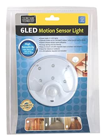 bright 6 led motion sensor light energy saving motion detector light. Black Bedroom Furniture Sets. Home Design Ideas