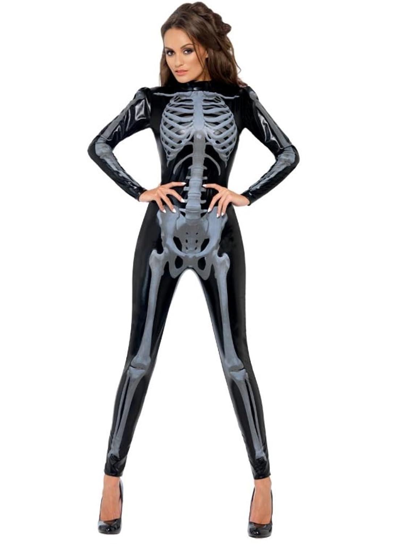 Womens Skeleton Costume Glow Dark Fever Women's Skeleton Costume