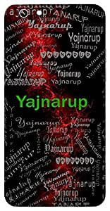 Yajnarup (Lord Krishna) Name & Sign Printed All over customize & Personalized!! Protective back cover for your Smart Phone : Samsung Galaxy S6 Edge