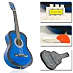 "38"" Blue Student Acoustic Guitar Star..."