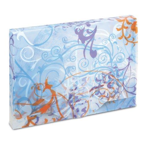 Herma 19027 HERMA Heftbox A4 Design Spirit, blau, 19027 blau bedruckt blau transp