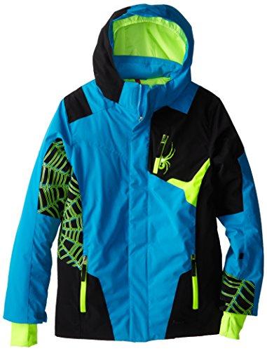 Spyder Boys Challenger Jacket, 12, Electric Blue/Black/Bryte Green