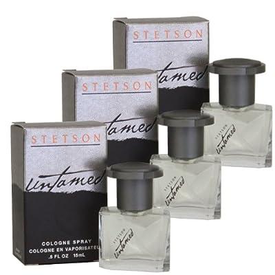 Stetson Untamed By Coty for Men Cologne Spray Box 3 X 0.5 oz