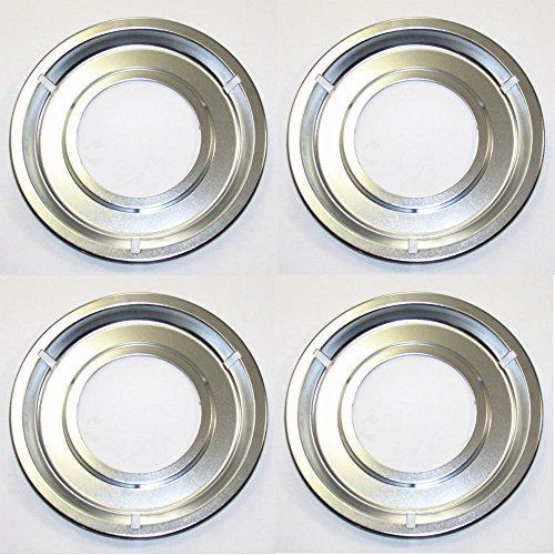 AP2137021 (4 PACK) ORIGINAL FACTORY FRIGIDAIRE ELECTROLUX KENMORE SEARS TAPPAN OVEN STOVE DRIP PAN SET OF 4 (Tappan Stove Parts Oven compare prices)